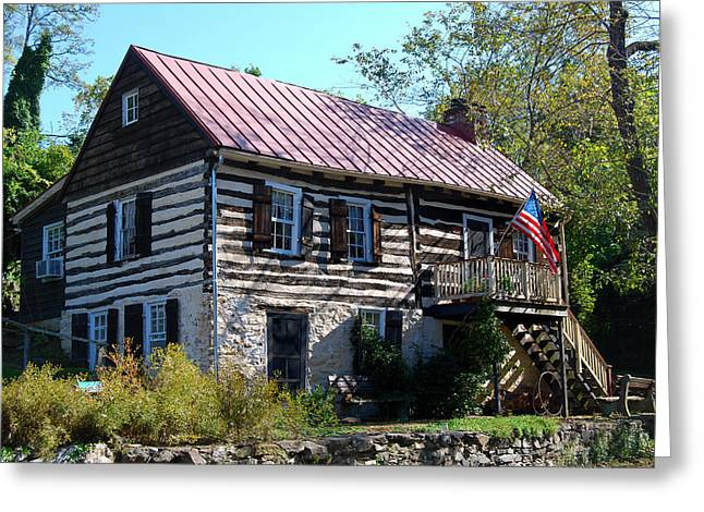 Log Cabin Photographs Digital Greeting Cards - This Old House Greeting Card by Eva Kaufman