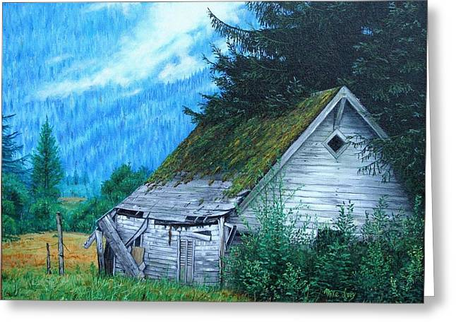 Barn Sculptures Greeting Cards - This Old House Greeting Card by Mike Ivey