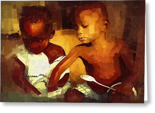 Ghana Greeting Cards - This Tastes Good Greeting Card by Deborah MacQuarrie
