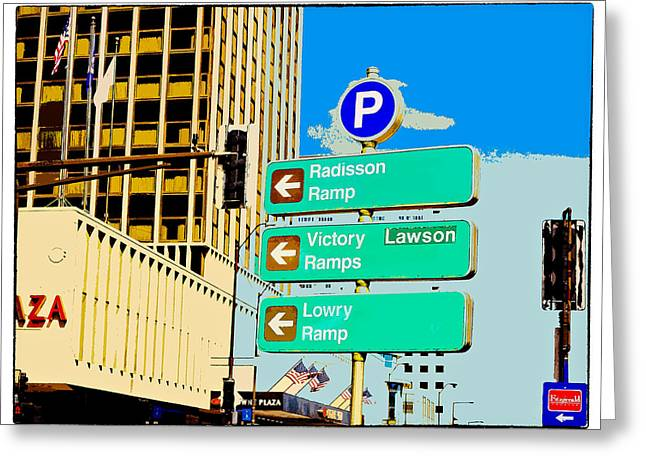 Minnesota Photo Greeting Cards - This Way to St. Paul Greeting Card by Susan Stone