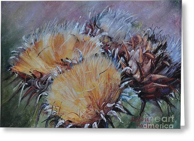 Sonoma Pastels Greeting Cards - Thistledown Greeting Card by Debbie Harding