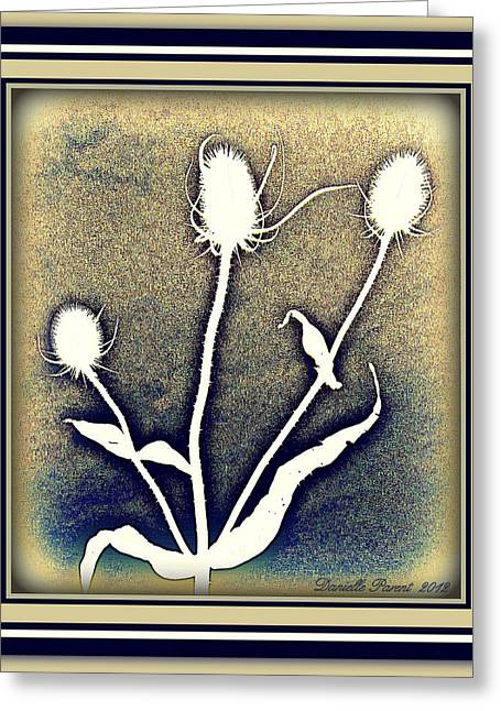 Thistles Grouping Greeting Card by Danielle  Parent