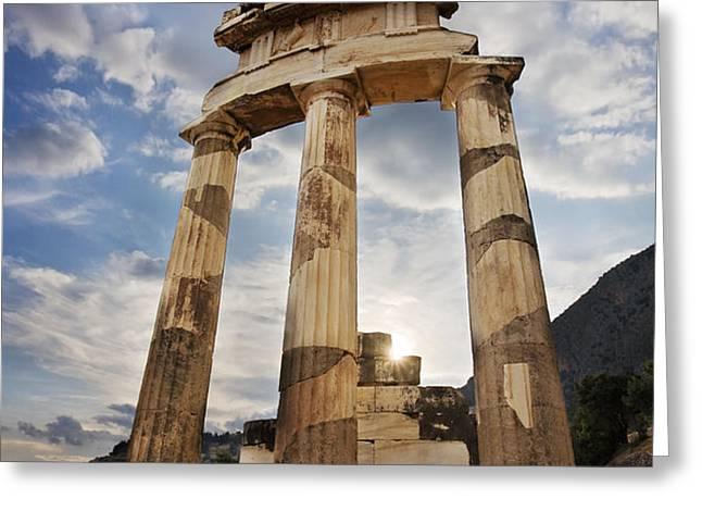 Tholos at Delphi Greeting Card by Richard Garvey-Williams
