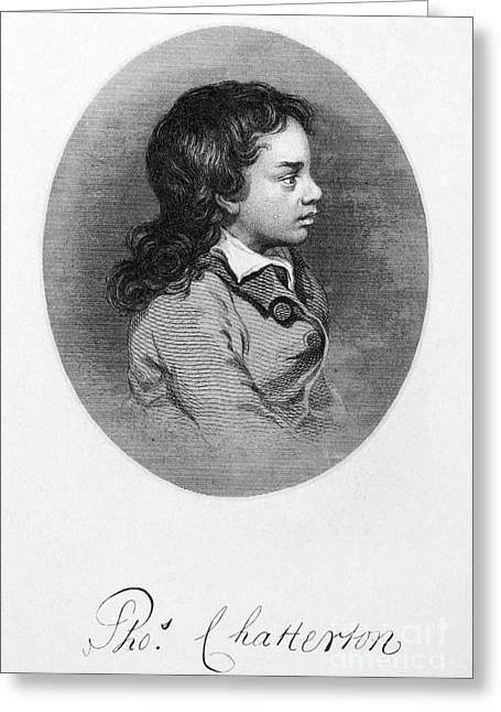 Thomas Chatterton Greeting Card by Granger