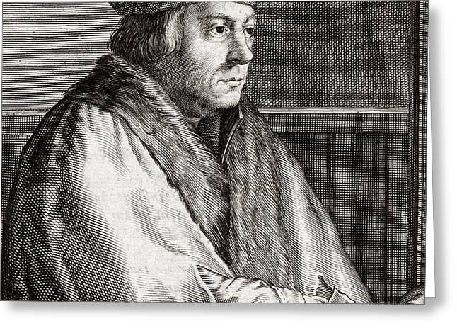 Thomas Cromwell, English Statesman Greeting Card by Middle Temple Library