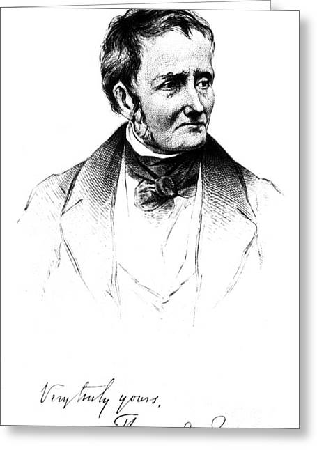 Important Greeting Cards - Thomas De Quincey, English Essayist Greeting Card by Photo Researchers