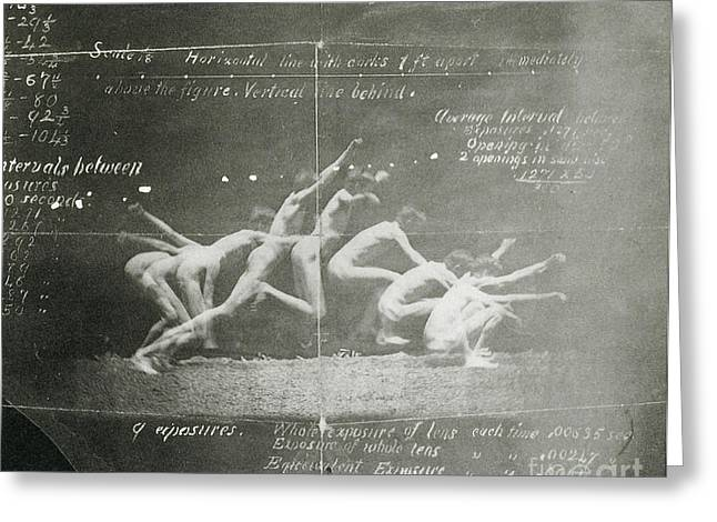 Muybridge Photographs Greeting Cards - Thomas Eakinss History Of A Jump Greeting Card by Science Source