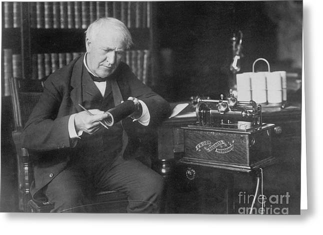Thomas Edison, American Inventor Greeting Card by Omikron