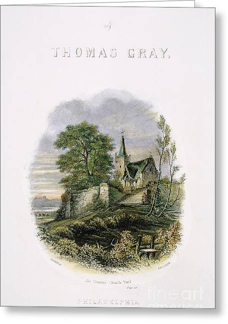 Titlepage Greeting Cards - Thomas Gray: Title Page Greeting Card by Granger