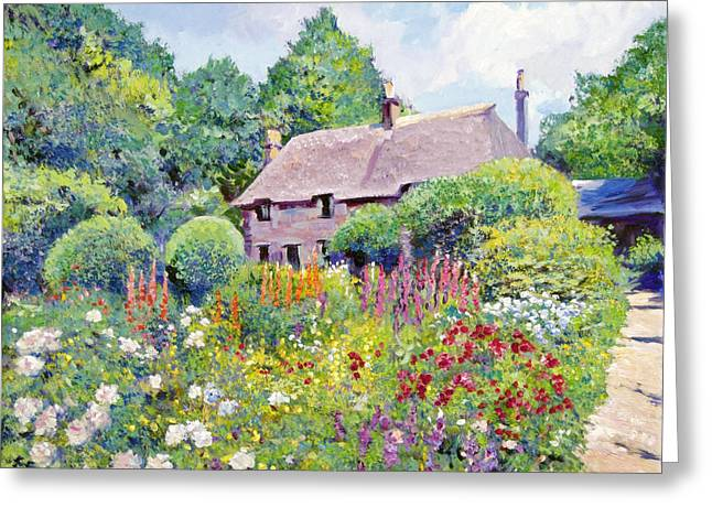 Most Popular Paintings Greeting Cards - Thomas Hardy House Greeting Card by David Lloyd Glover