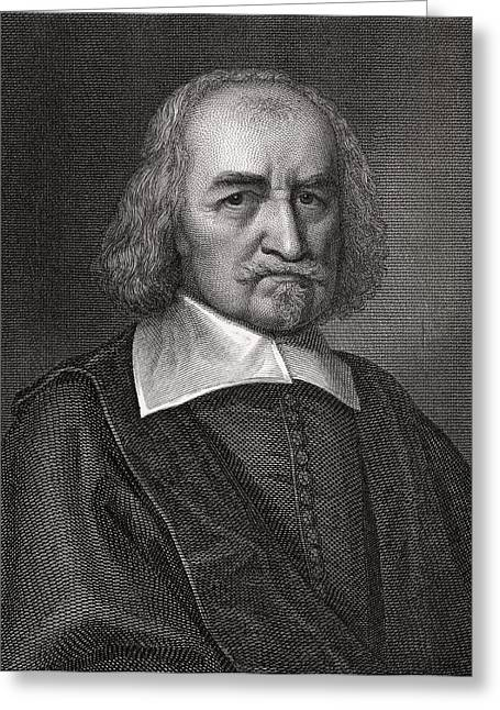 Thomas Hobbes, English Philosopher Greeting Card by Middle Temple Library