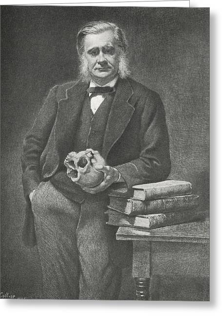 Plankton Greeting Cards - Thomas Huxley, British Biologist Greeting Card by Science, Industry & Business Librarynew York Public Library