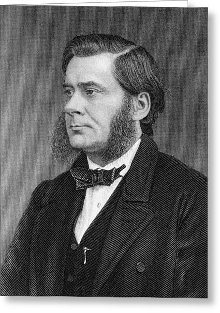 British Bulldog Greeting Cards - Thomas Huxley, English Biologist Greeting Card by