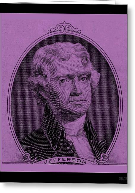 Purchase Greeting Cards - THOMAS JEFFERSON in LIGHT PINK Greeting Card by Rob Hans