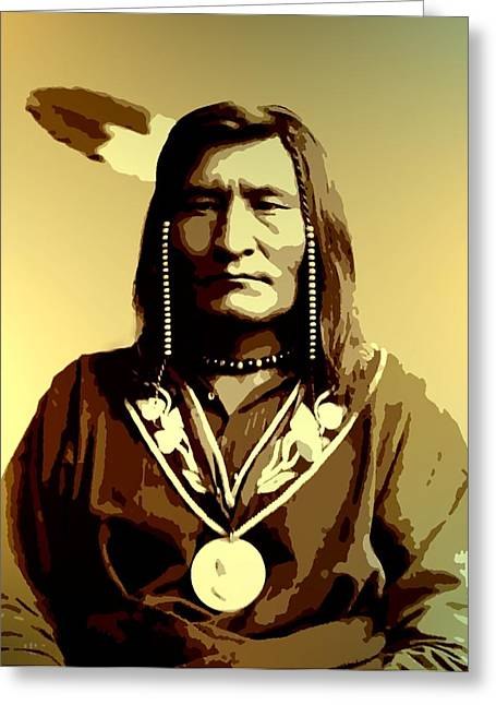 Native American Heroes Greeting Cards - Thomas Little Shell Greeting Card by Lisa Berton