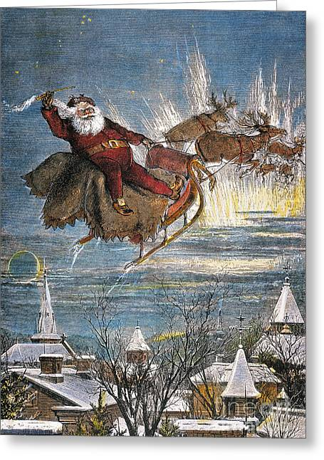 Nast Greeting Cards - Thomas Nast: Santa Claus Greeting Card by Granger
