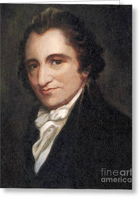Common Sense Greeting Cards - Thomas Paine, American Founding Father Greeting Card by Photo Researchers