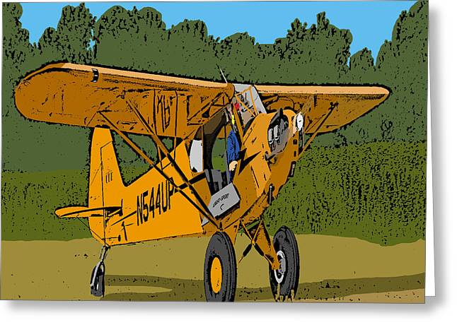 Aviation Caricatures Greeting Cards - Thomas Greeting Card by Steven Richardson