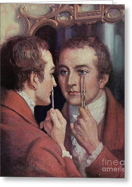 Thomas Young, English Polymath Greeting Card by Science Source