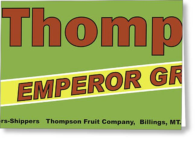 Labelled Greeting Cards - Thompson Grapes Greeting Card by John OBrien