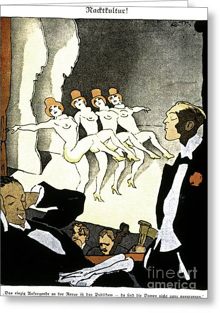 Burlesque Paintings Greeting Cards - Thony: Nacktkultur, 1926 Greeting Card by Granger