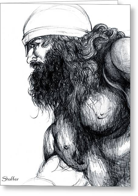 Thor Drawings Greeting Cards - Thor Greeting Card by Curtiss Shaffer