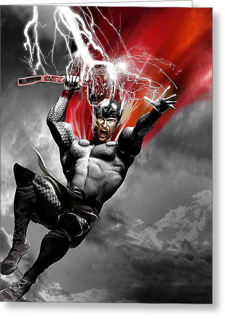 Thor Greeting Cards - Thor Greeting Card by Gary Deslauriers