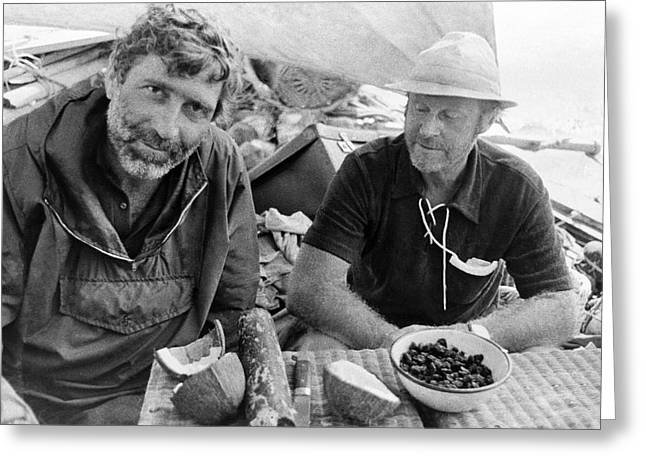Thor Greeting Cards - Thor Heyerdahls Ra Expedition, 1969 Greeting Card by Ria Novosti