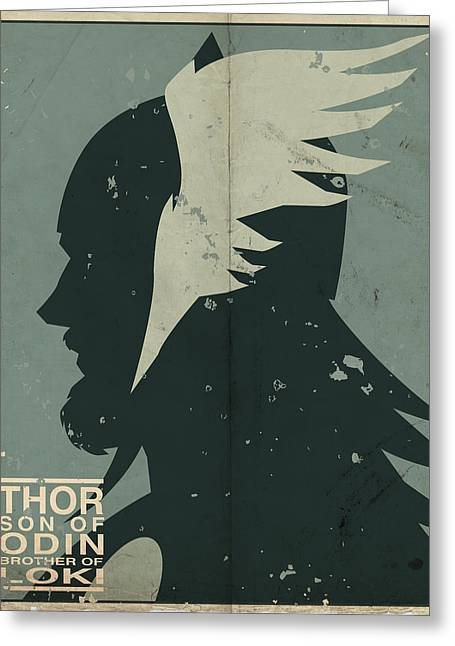 Norse Mythology Greeting Cards - Thor Greeting Card by Michael Myers