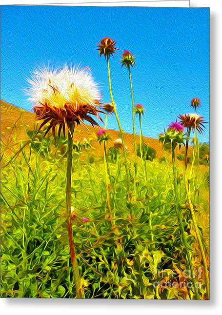 Gregory Dyer Greeting Cards - Thorny Flower 01 Greeting Card by Gregory Dyer