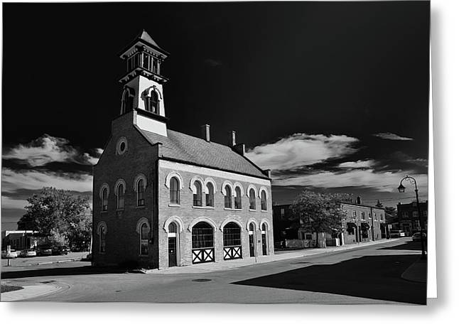 Thorold's Old Fire Hall Greeting Card by Guy Whiteley