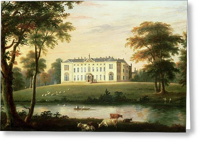 Rural Schools Paintings Greeting Cards - Thorp Perrow near Snape in Yorkshire Greeting Card by English School