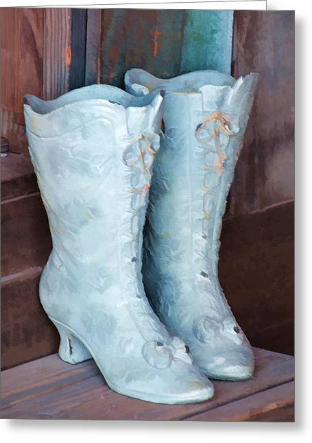 Fancy Boots Greeting Cards - Those Boots Greeting Card by Diane Wood
