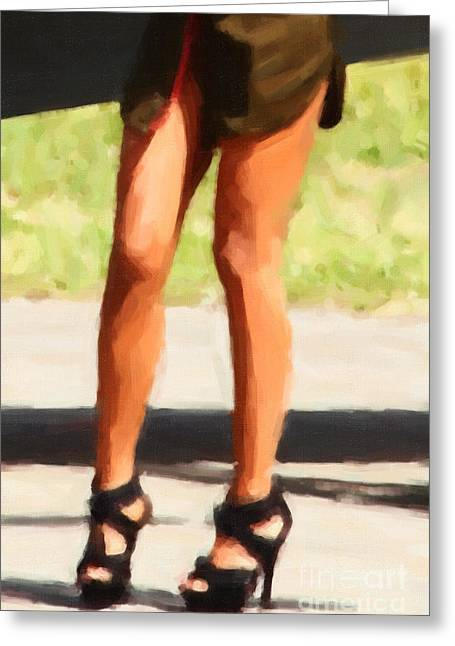 Dominatrix Greeting Cards - Those Legs Greeting Card by Wingsdomain Art and Photography