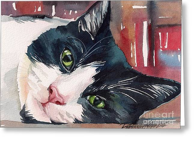 Tuxedo Greeting Cards - Those Loving Eyes Greeting Card by Yuliya Podlinnova