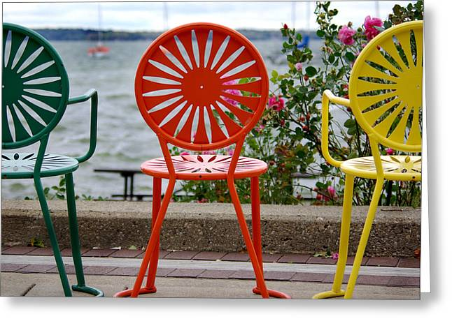 Memorial Union Terrace Greeting Cards - Three Amigos ll Greeting Card by Linda Mishler