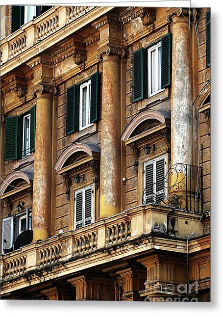 Gallery Three Greeting Cards - Three Columns Greeting Card by John Rizzuto