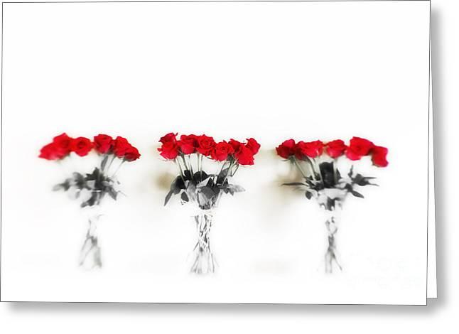 Dozen Greeting Cards - Three Dozen Roses Greeting Card by Scott Pellegrin