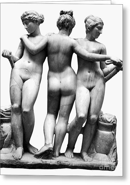 Greek Sculpture Greeting Cards - Three Graces Greeting Card by Granger