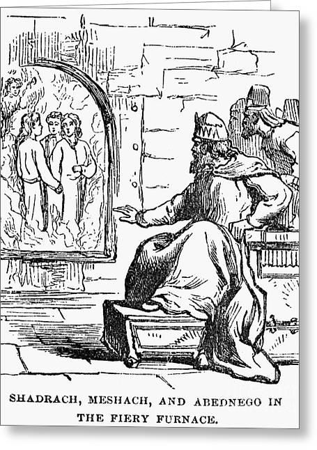 Nebuchadnezzar Greeting Cards - Three Hebrews Greeting Card by Granger