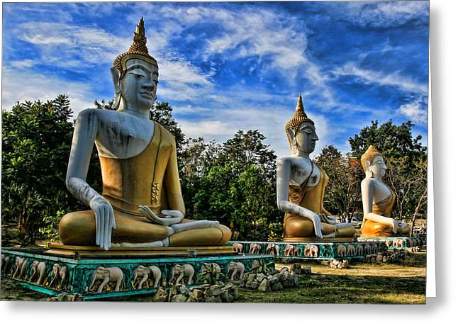 Hua Hin Greeting Cards - Three of a kind Greeting Card by Adrian Evans