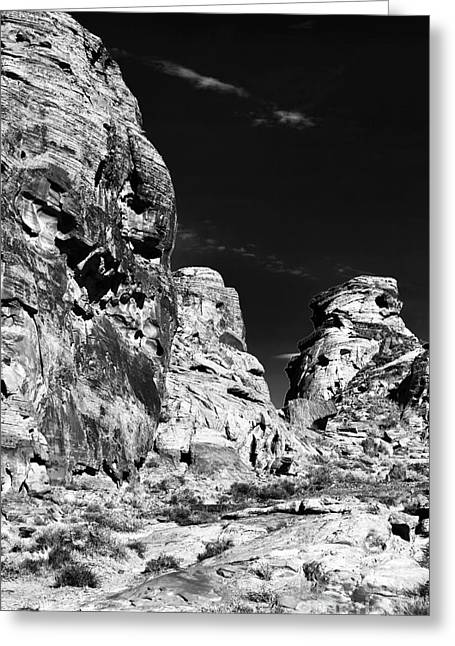 Gallery Three Greeting Cards - Three Rocks Greeting Card by John Rizzuto