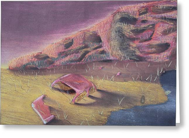 The Hills Pastels Greeting Cards - Three Thousand Miles to Graceland Greeting Card by Casey P