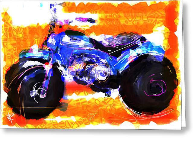 Three Wheels Of Fun Greeting Card by Russell Pierce