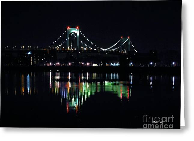 Throggs Neck Bridge Greeting Card by Dale   Ford