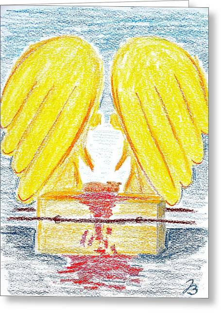 Forgiveness Drawings Greeting Cards - Throne of Grace Greeting Card by Jutta B