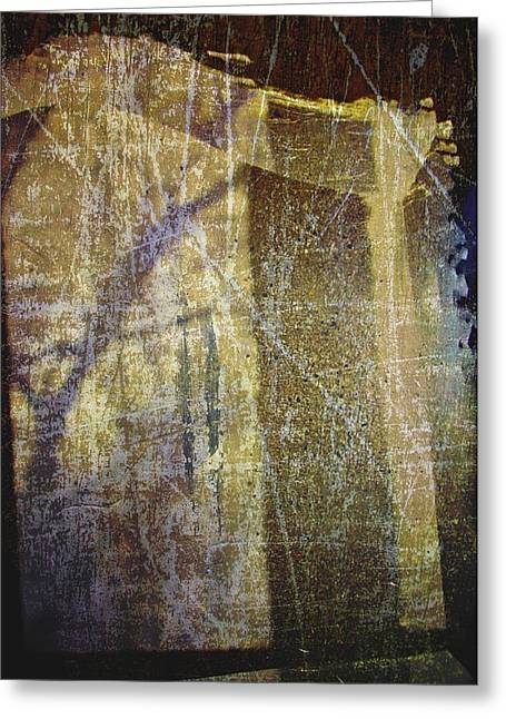 Dissolving Greeting Cards - Through A Glass Darkly Greeting Card by Odd Jeppesen