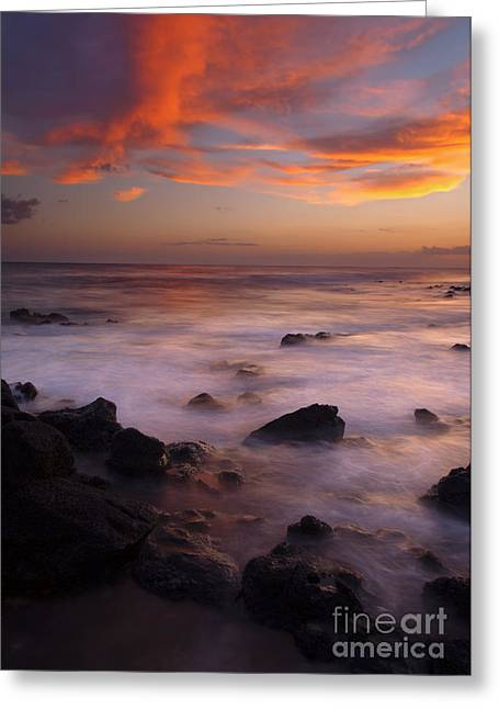 Poipu Greeting Cards - Through the Gap Greeting Card by Mike  Dawson