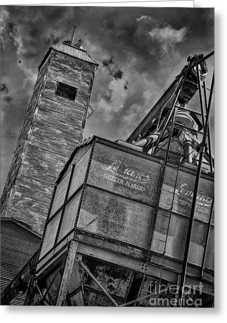 Old Feed Mills Photographs Greeting Cards - Through the Mill BW Greeting Card by Ken Williams