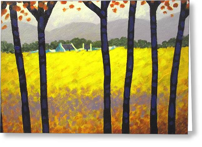 Landscape Posters Greeting Cards - Through The Trees Greeting Card by John  Nolan